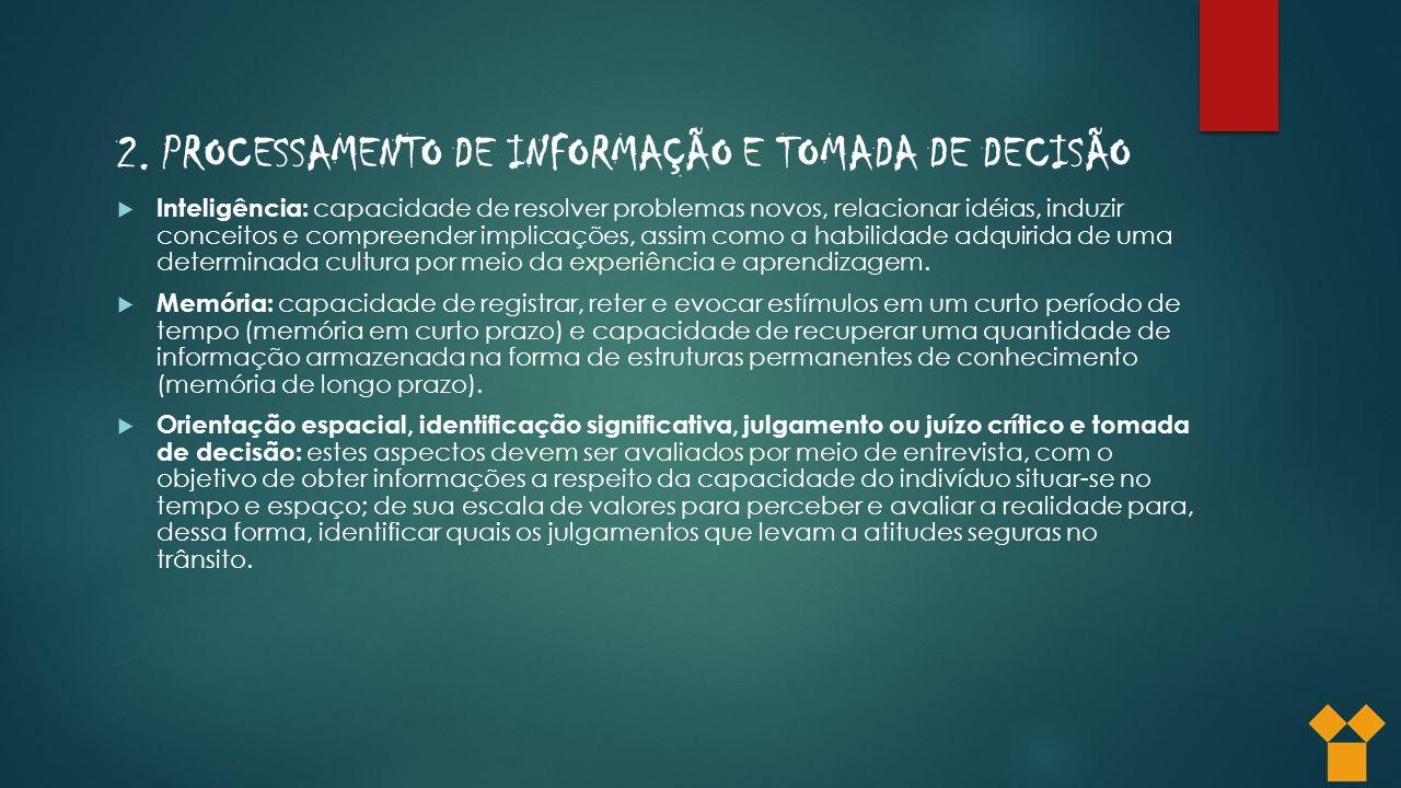 2. PROCESSAMENTO DE INFORMAÇÃO E TOMADA DE DECISÃO