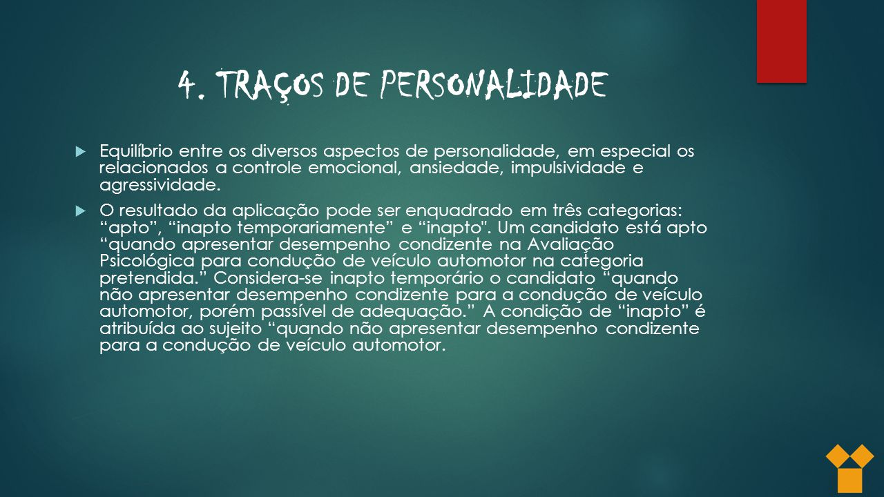 4. TRAÇOS DE PERSONALIDADE