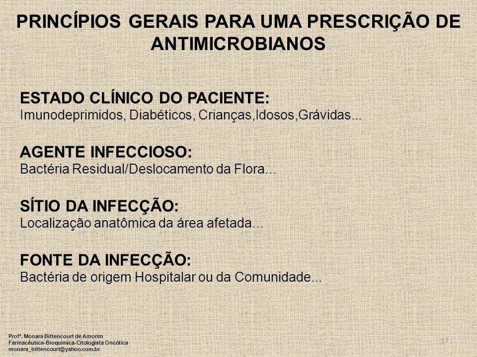 PRINCÍPIOS GERAIS PARA UMA PRESCRIÇÃO DE ANTIMICROBIANOS