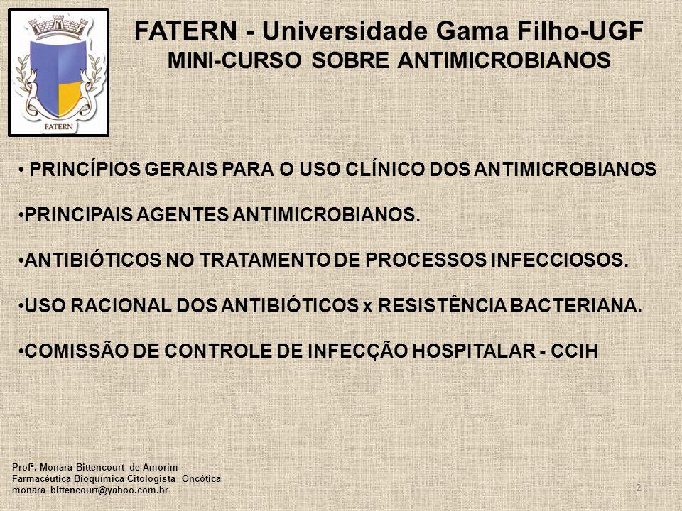 FATERN - Universidade Gama Filho-UGF MINI-CURSO SOBRE ANTIMICROBIANOS