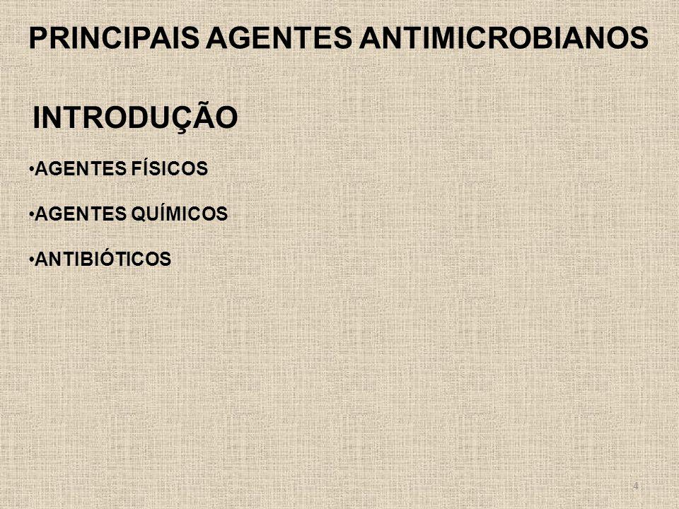 PRINCIPAIS AGENTES ANTIMICROBIANOS