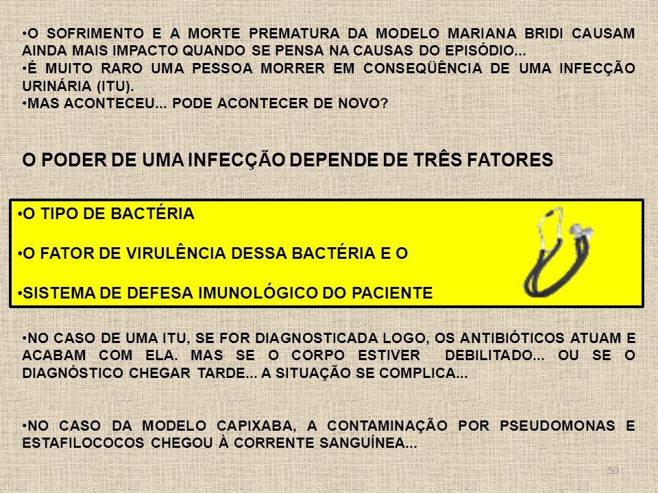 o poder de uma infecção depende de três fatores