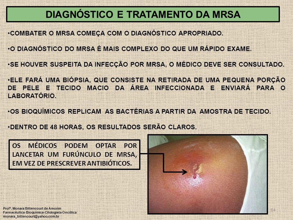 Diagnóstico e TRATAMENTO DA MRSA