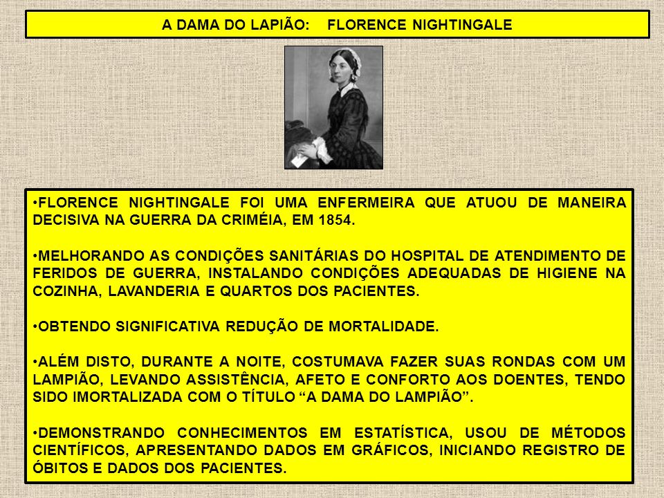 A DAMA DO LAPIÃO: Florence Nightingale
