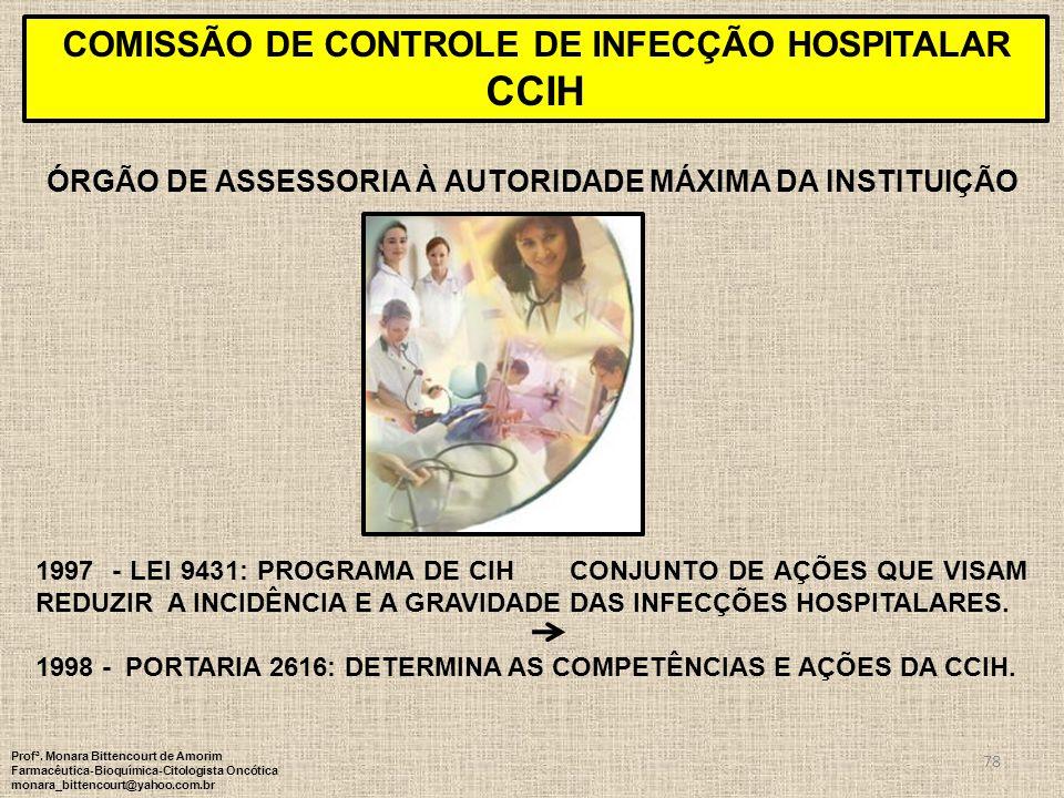 CCIH COMISSÃO DE CONTROLE DE INFECÇÃO HOSPITALAR