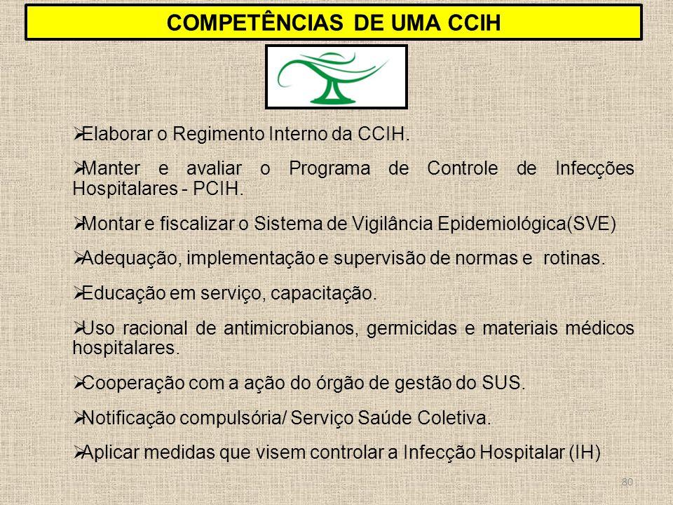 Competências DE UMA CCIH