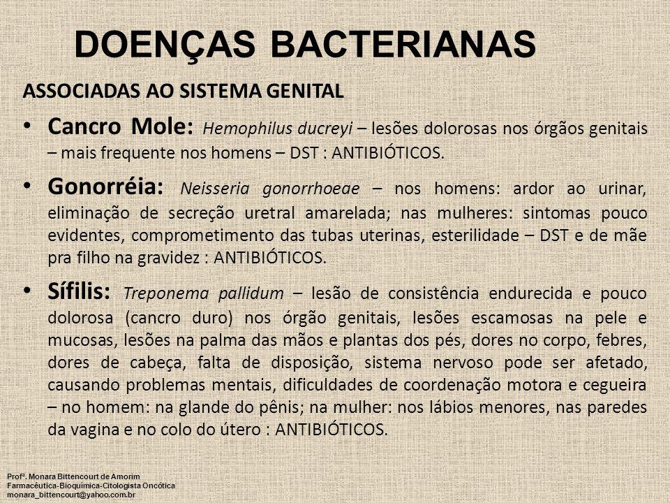 DOENÇAS BACTERIANAS ASSOCIADAS AO SISTEMA GENITAL.