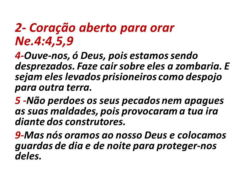 2- Coração aberto para orar Ne.4:4,5,9