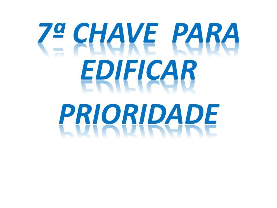 7ª CHAVE PARA EDIFICAR priORIDADE