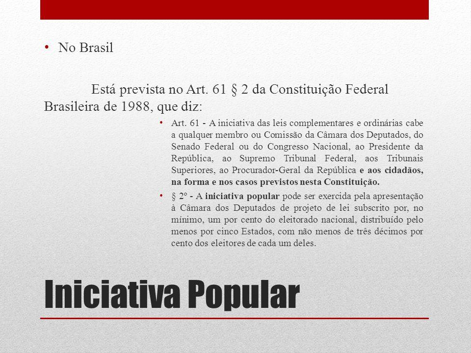 Iniciativa Popular No Brasil