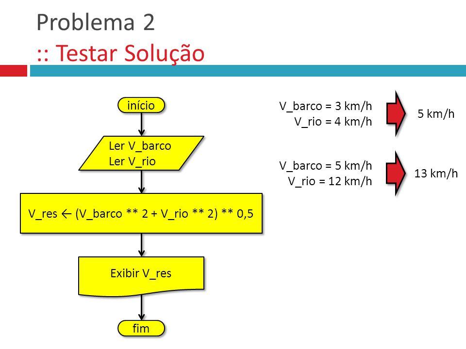 Problema 2 :: Testar Solução
