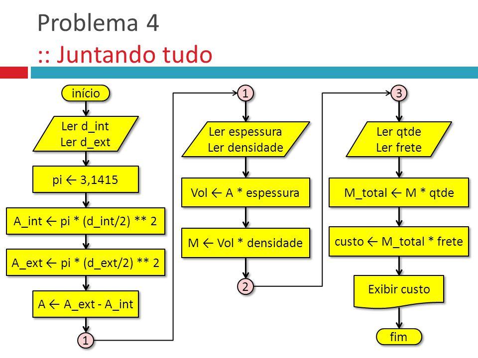 Problema 4 :: Juntando tudo
