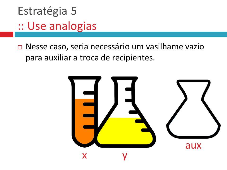 Estratégia 5 :: Use analogias