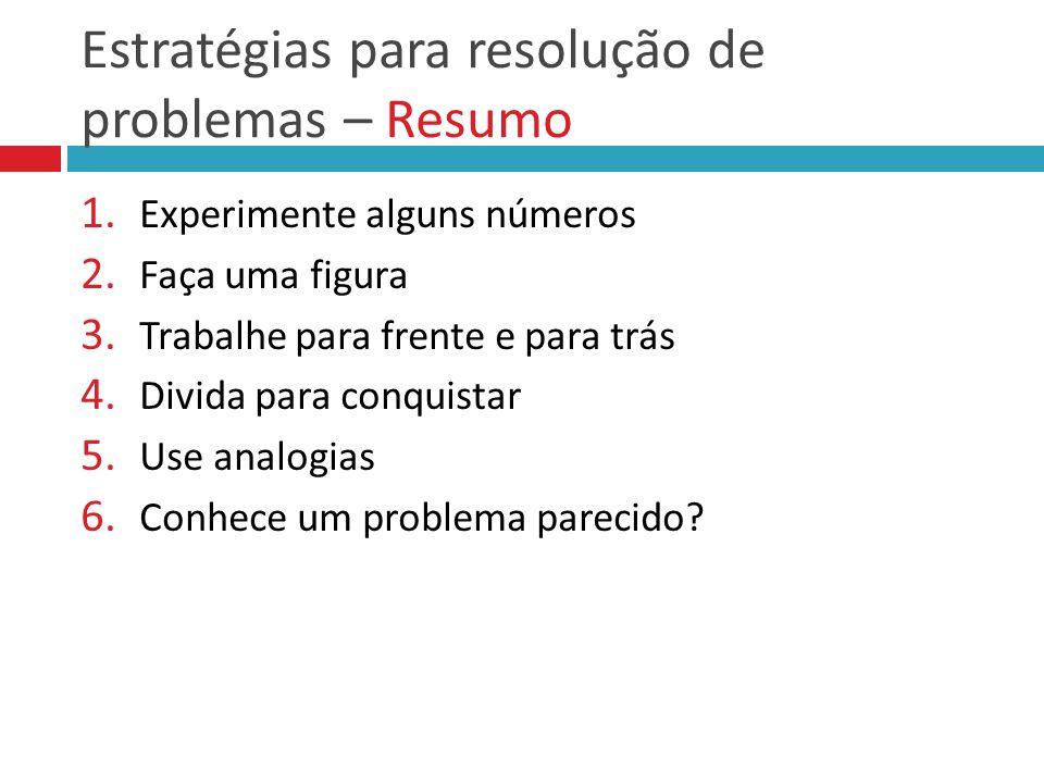 Estratégias para resolução de problemas – Resumo
