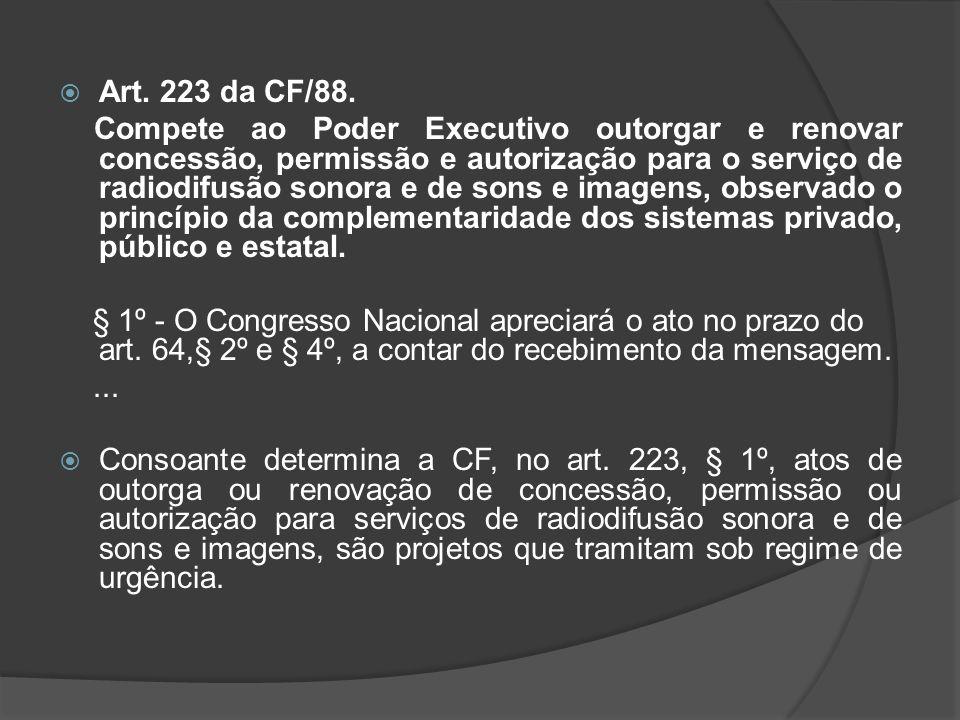 Art. 223 da CF/88.