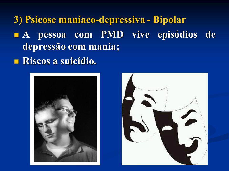 3) Psicose maníaco-depressiva - Bipolar