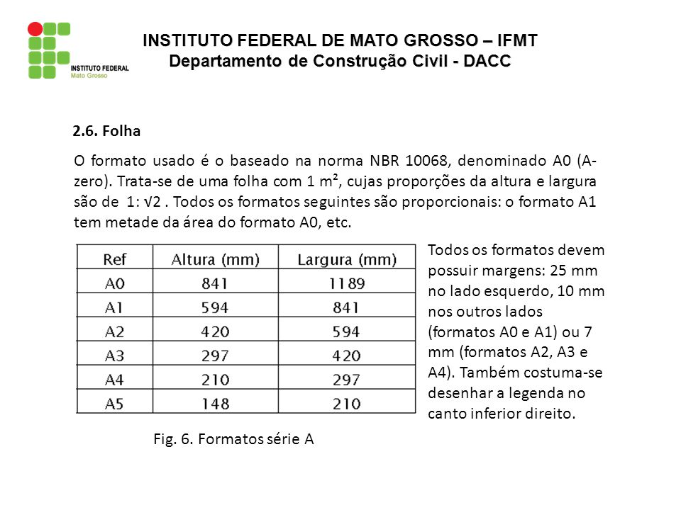 INSTITUTO FEDERAL DE MATO GROSSO – IFMT