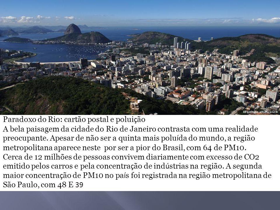 Paradoxo do Rio: cartão postal e poluição