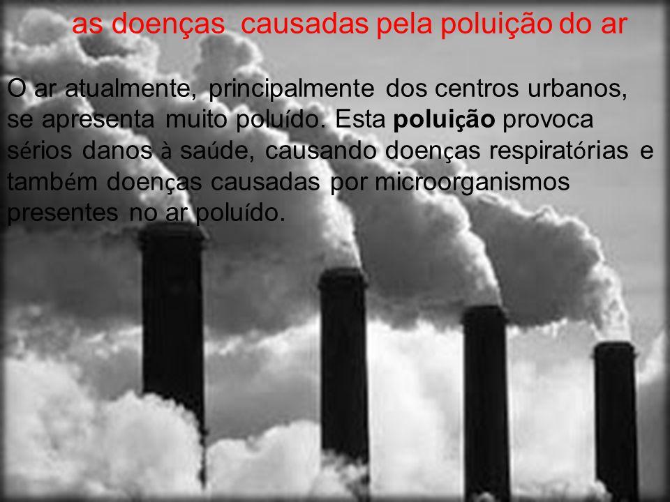 as doenças causadas pela poluição do ar