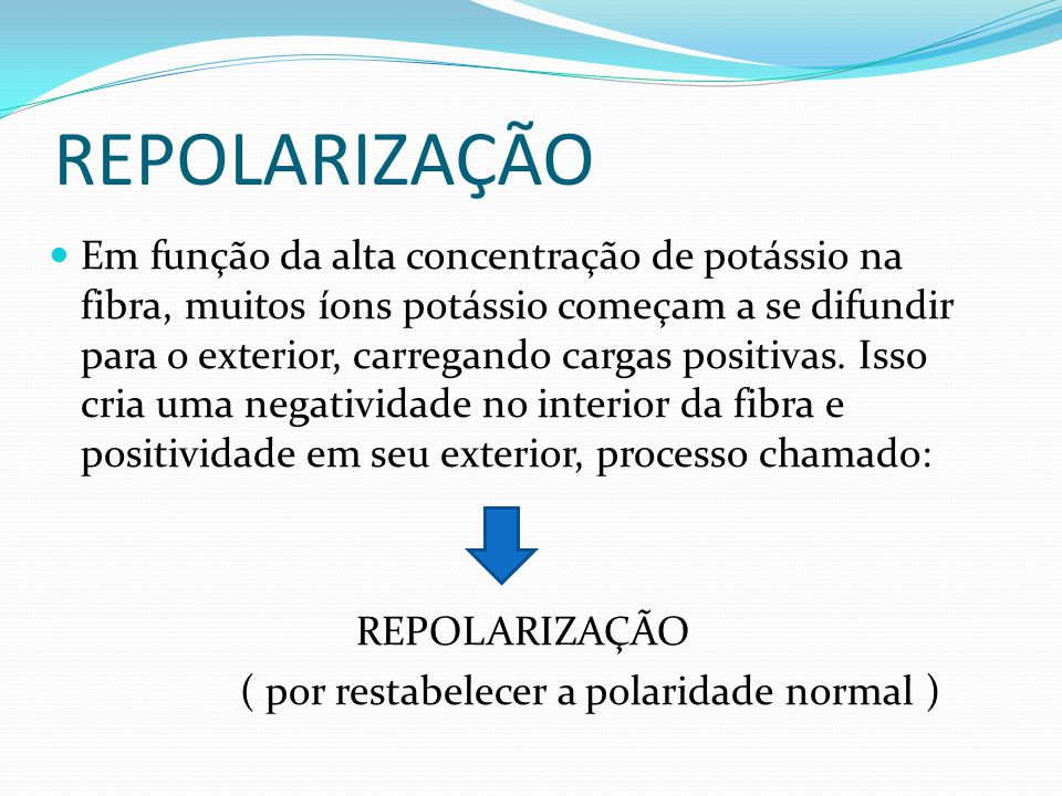 ( por restabelecer a polaridade normal )
