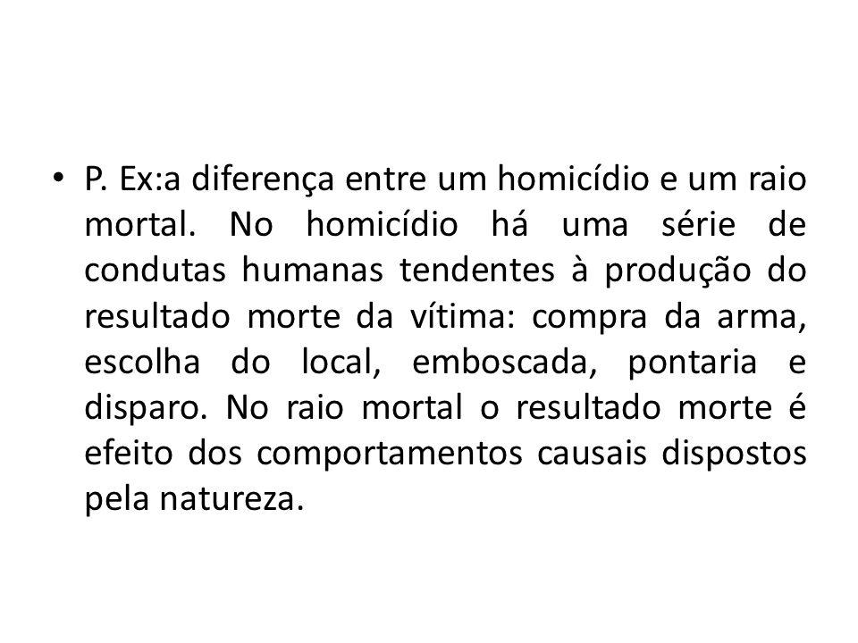 P. Ex:a diferença entre um homicídio e um raio mortal