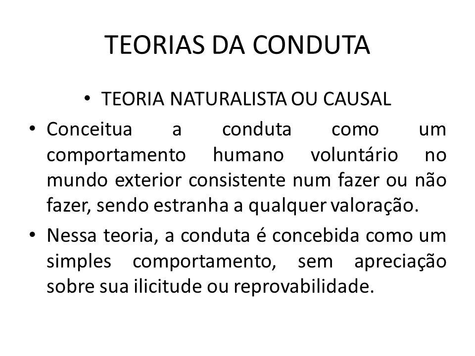 TEORIA NATURALISTA OU CAUSAL