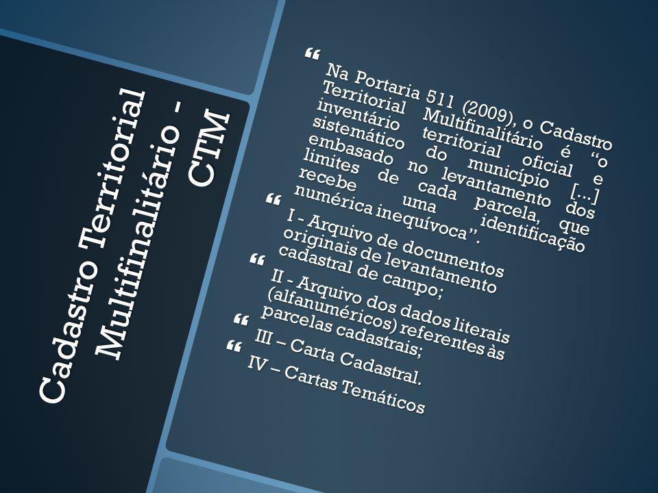 Cadastro Territorial Multifinalitário - CTM
