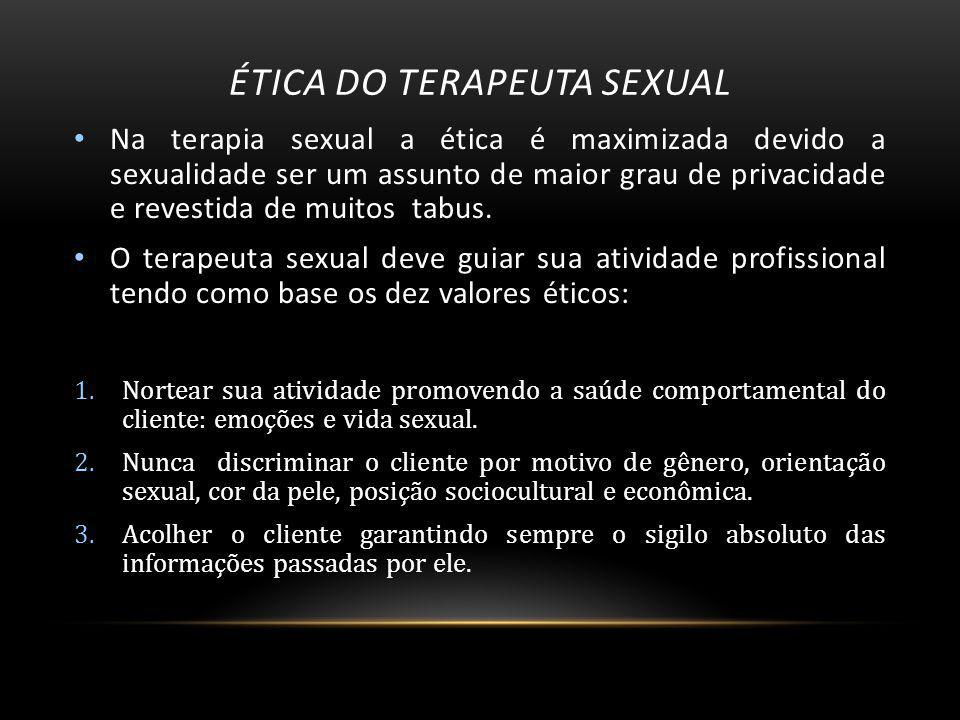 Ética do terapeuta sexual