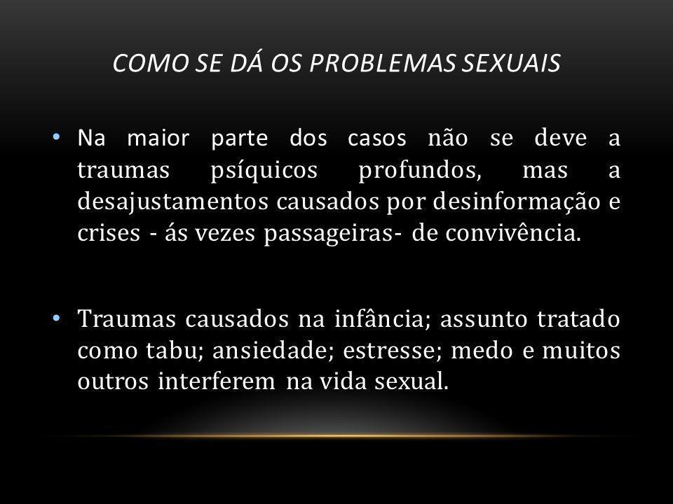 Como se dá os problemas sexuais