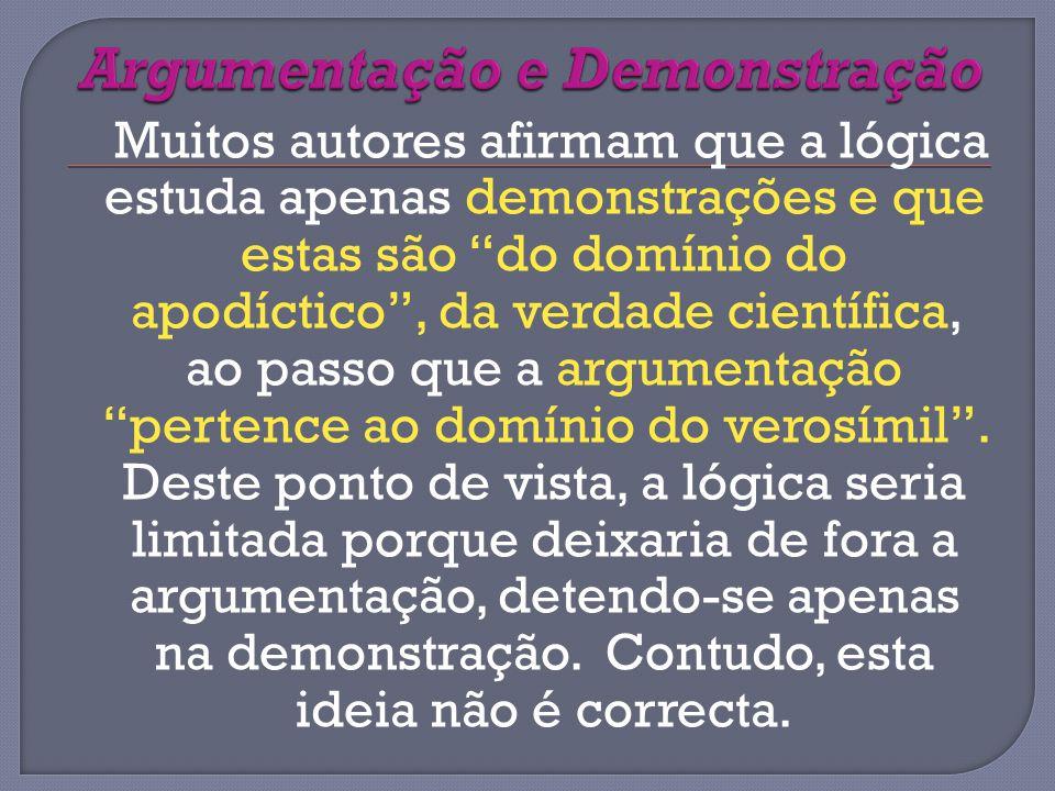 Argumentação e Demonstração