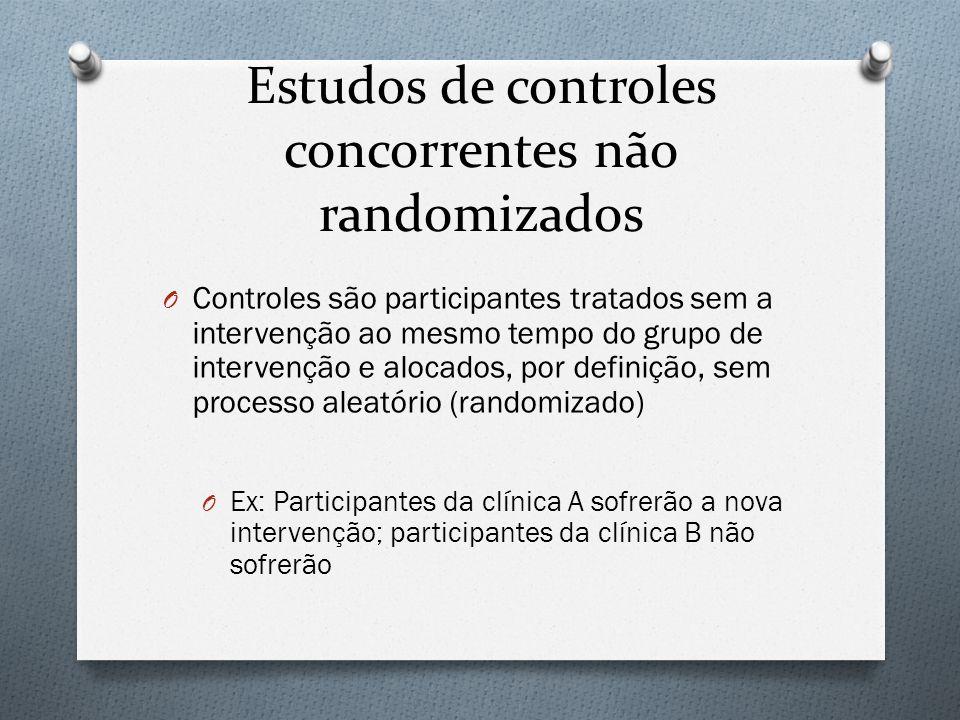 Estudos de controles concorrentes não randomizados
