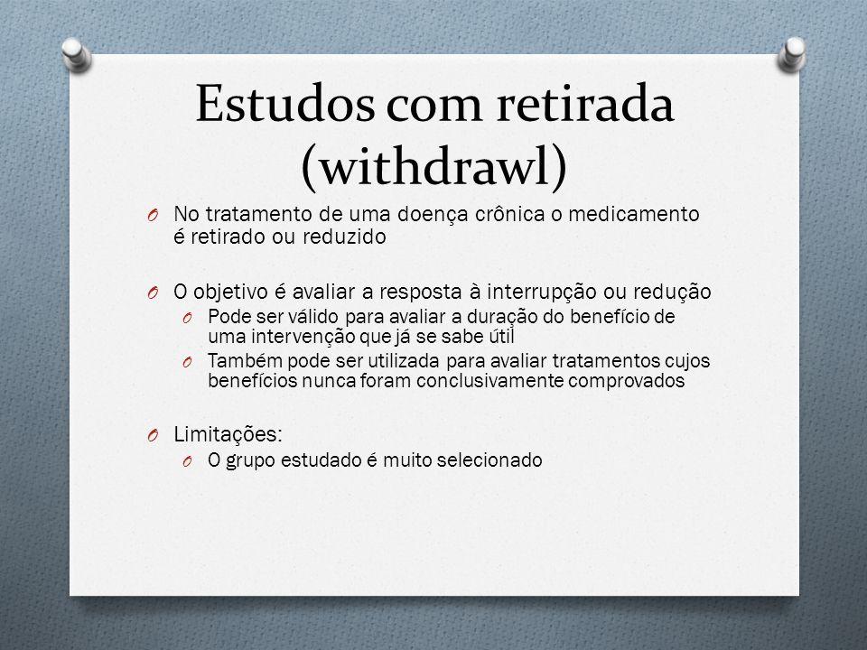 Estudos com retirada (withdrawl)