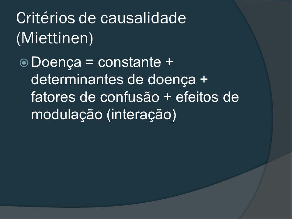 Critérios de causalidade (Miettinen)