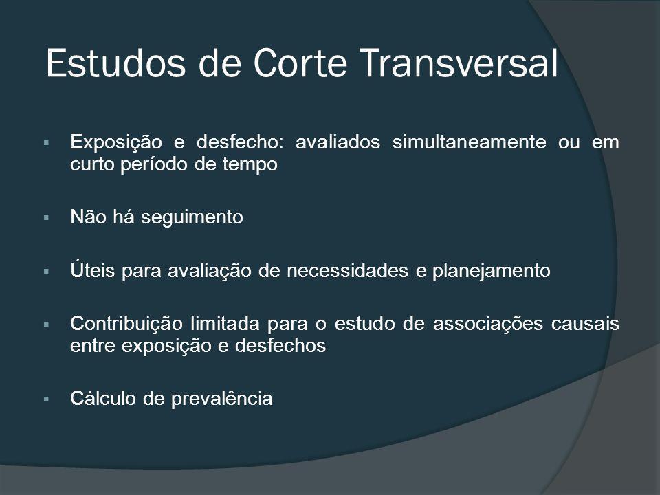 Estudos de Corte Transversal