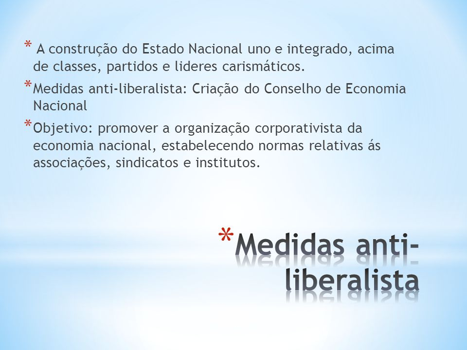 Medidas anti-liberalista