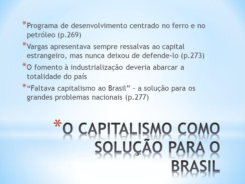 O CAPITALISMO COMO SOLUÇÃO PARA O BRASIL