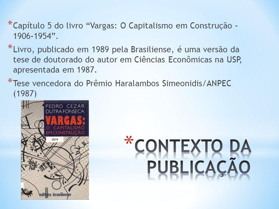 CONTEXTO DA PUBLICAÇÃO