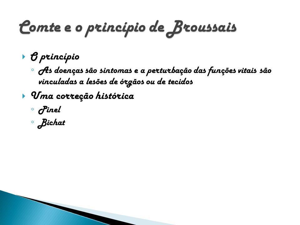 Comte e o princípio de Broussais