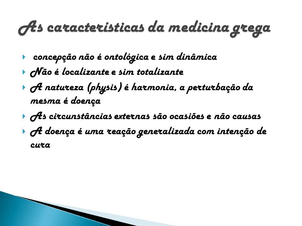 As características da medicina grega