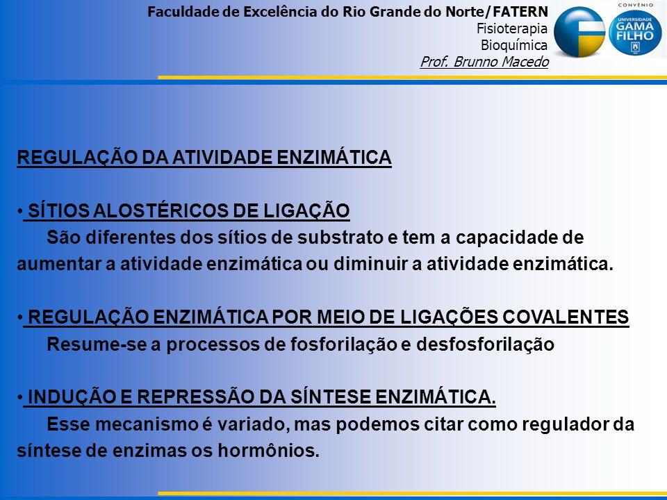REGULAÇÃO DA ATIVIDADE ENZIMÁTICA SÍTIOS ALOSTÉRICOS DE LIGAÇÃO