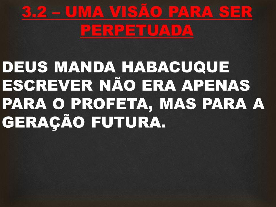 3.2 – UMA VISÃO PARA SER PERPETUADA