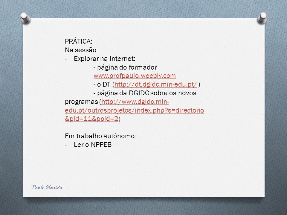 - página do formador www.profpaulo.weebly.com