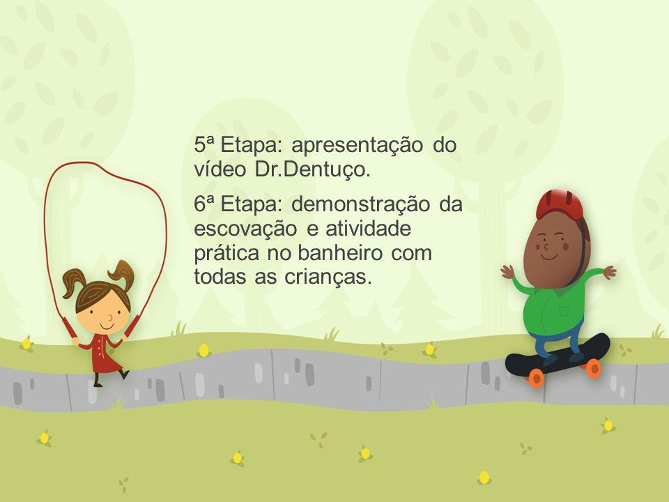 5ª Etapa: apresentação do vídeo Dr.Dentuço.