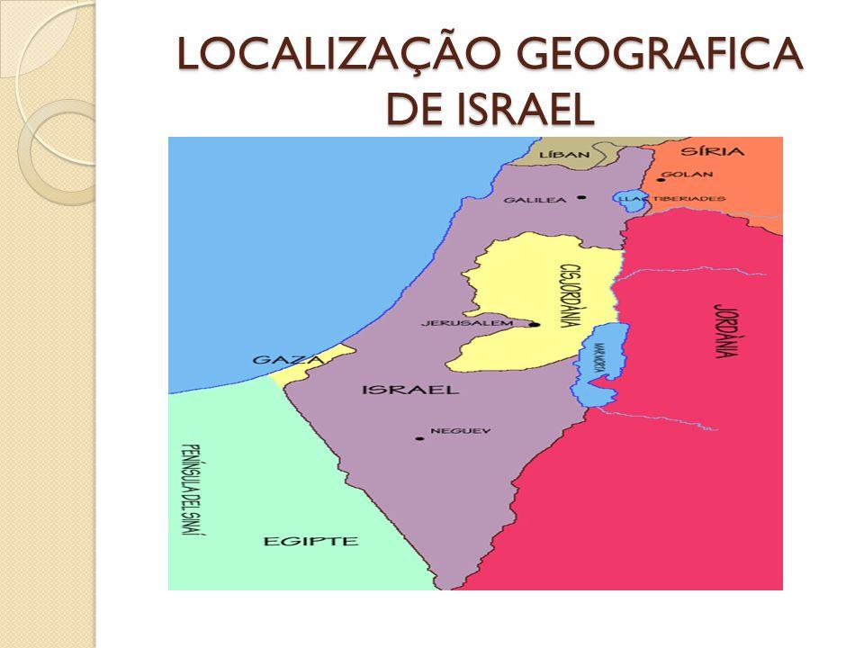 LOCALIZAÇÃO GEOGRAFICA DE ISRAEL