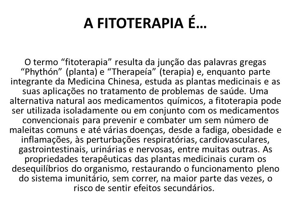 A FITOTERAPIA É…