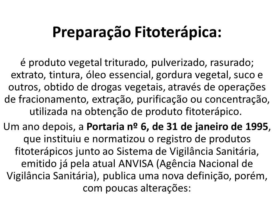 Preparação Fitoterápica:
