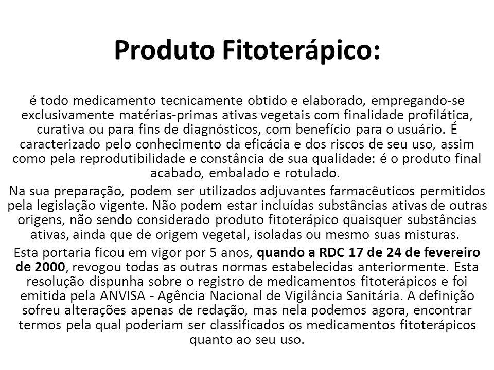 Produto Fitoterápico: