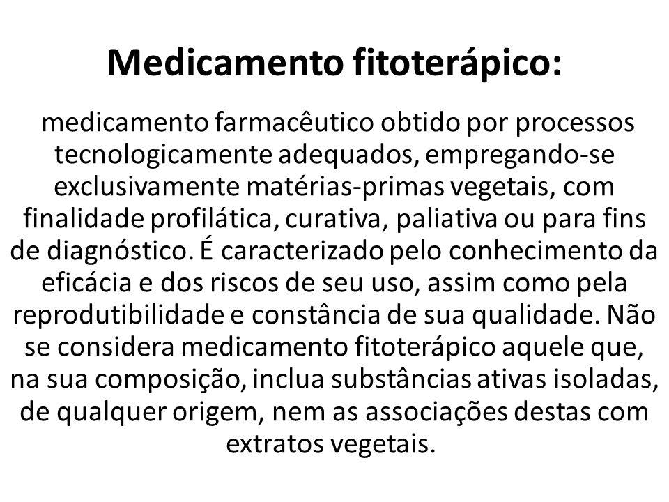 Medicamento fitoterápico: