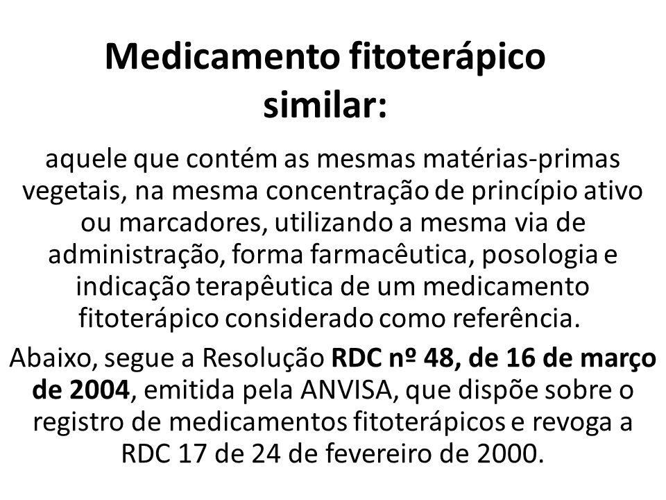 Medicamento fitoterápico similar: