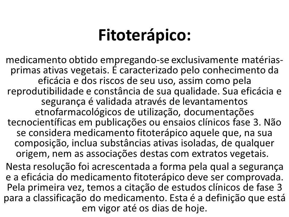 Fitoterápico: